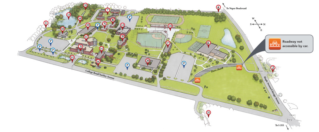 Benedictine Campus Map